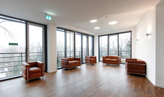 Wartebereich der Augenklinik Augsburg Forsterpark