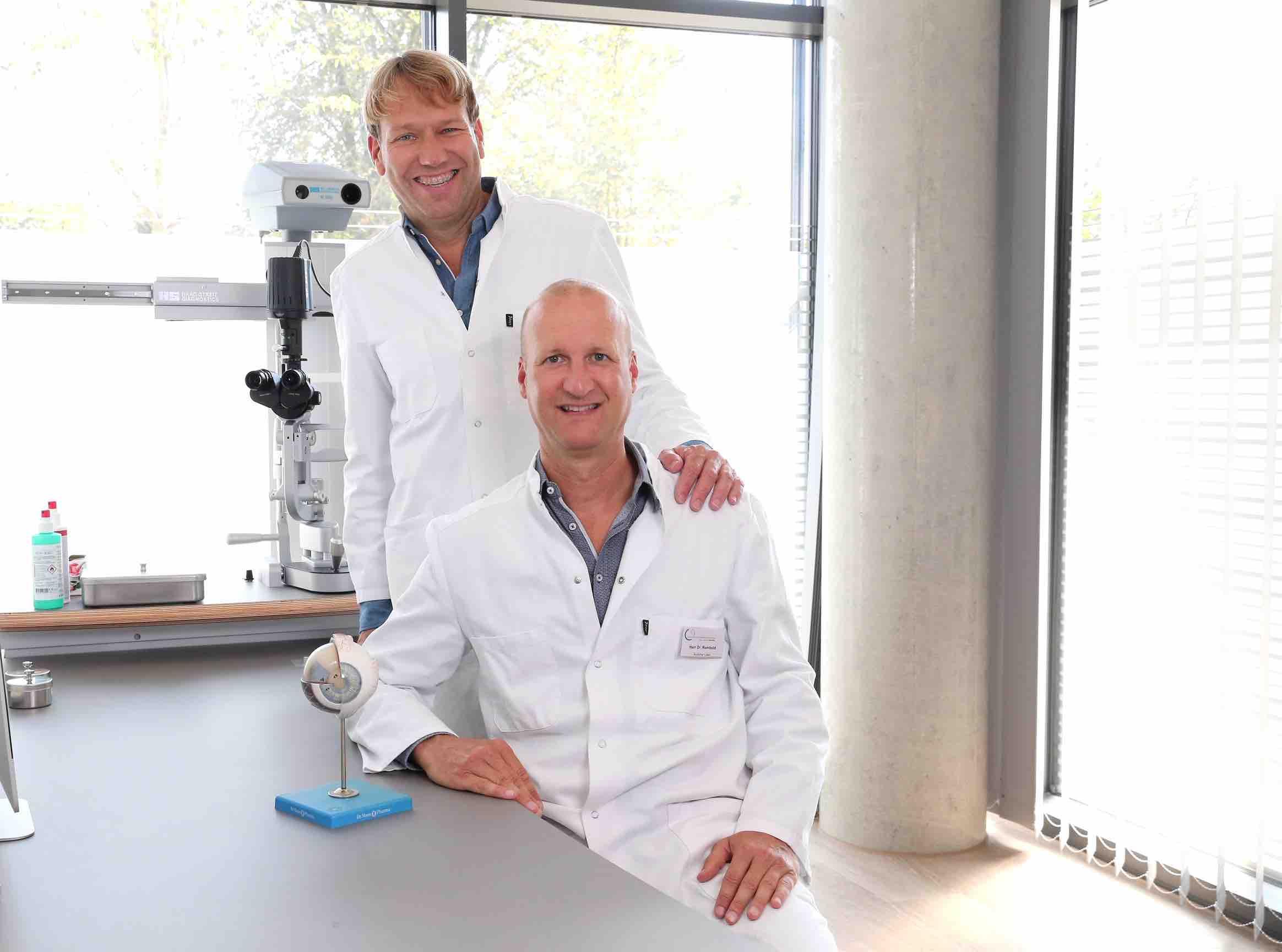 Augenspezialisten Dr. med. Christoph Niederdellmann and Dr. med. Felix Rombold